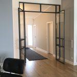 Stahl-Loft-Tür (Drehflügel offen)