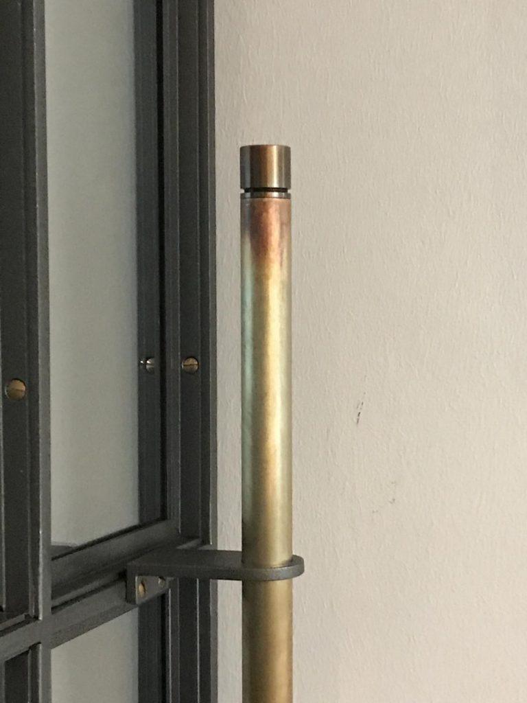 Stahl-Loft-Tür (Schiebetür) Messinggriff