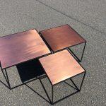 Q10 Tische mit Kupferplatte