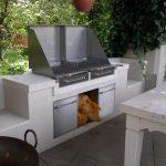 Außenküche Grill aus Edelstahl offen