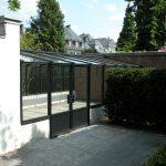 Glashaus Eingang