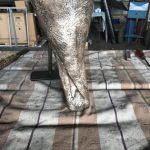 Bronzeadler repariert