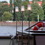 Edelstahl Schiffsleuchten mit Lampenschirm