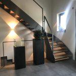 Stahlwangentreppe Erdgeschossansicht